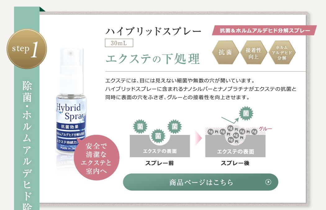 STEP1.除菌・ホルムアルデヒド除去 ハイブリッドスプレー30ml