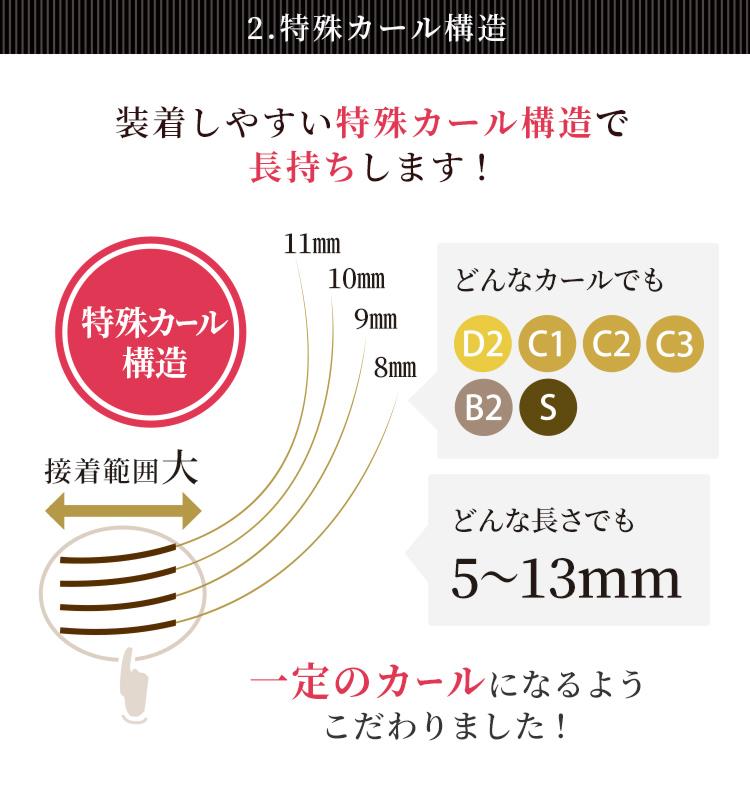 クチュリエール マットフラット(2又)(6列) 0.15mmLP